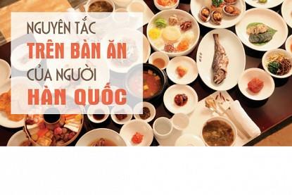 Những Lưu Ý Khi Dùng Bữa Với Người Hàn Quốc