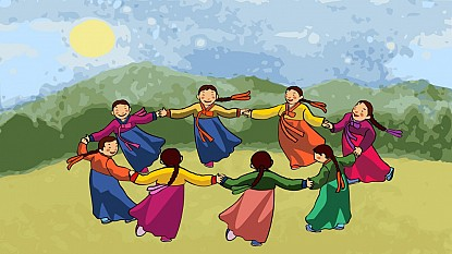 Trải nghiệm và khám phá về vũ hội đêm trăng Ganggangsullae