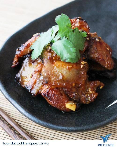Thịt ba chỉ áp chảo kiểu Hàn Quốc