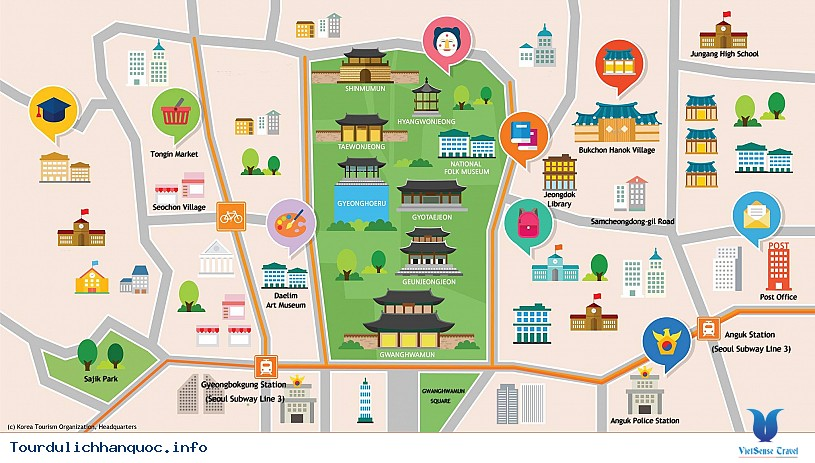 Quảng Trường Gwanghwamun rộng lớn và nổi tiếng của Hàn Quốc - Ảnh 2