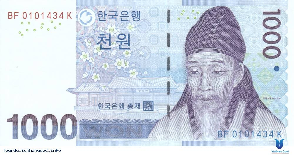 Học giả thời Joseon trên tờ 1.000 won