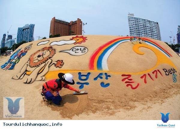Lễ hội cát Haeundae tại Hàn Quốc