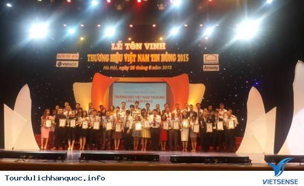 VietSense Travel vinh dự được tôn vinh Thương Hiệu Việt Nam Tin Dùng 2015